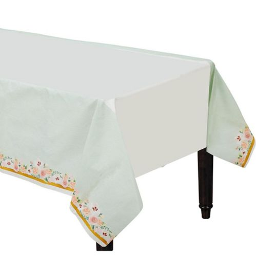 Mint Floral Wedding Table Cover