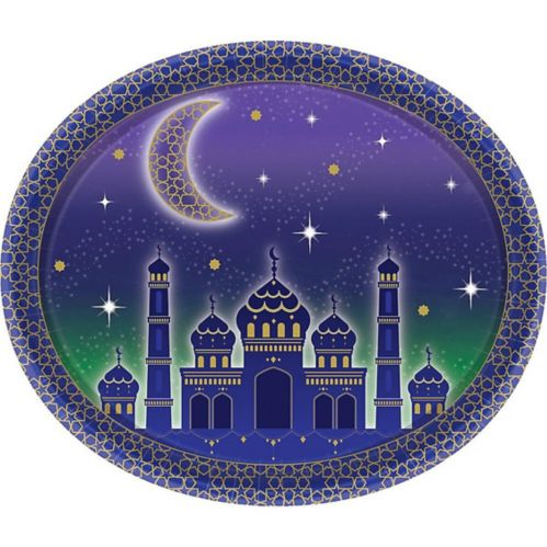 Eid Oval Plates, 8-pk