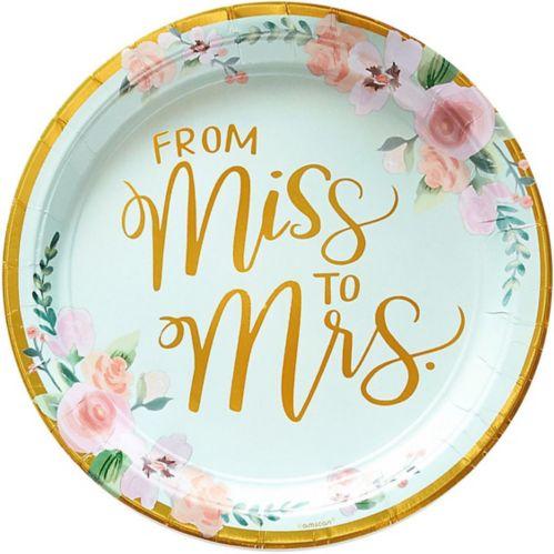Assiettes à déjeuner métallisées à motif floral Mint to be, paq. 8 Image de l'article