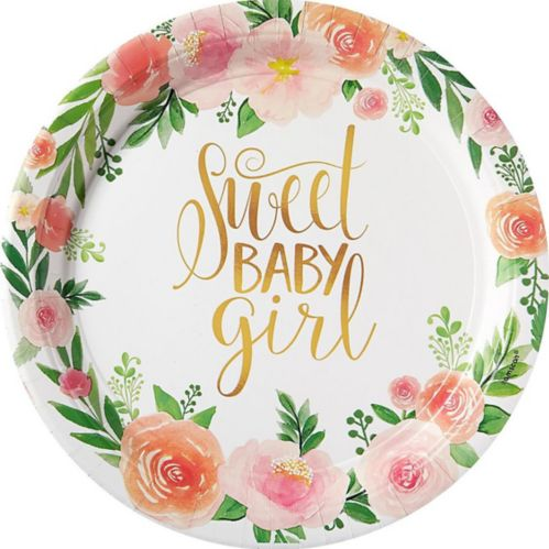 Floral Baby Dinner Plates, 8-pk