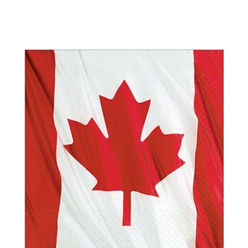Waving Canadian Flag Lunch Napkins, 20-pk