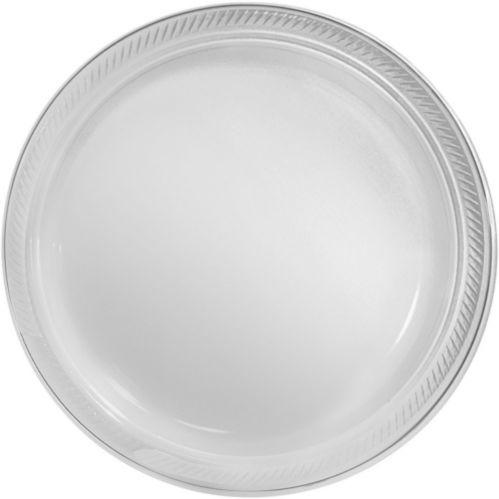 Grandes assiettes en plastique pour grosse fête, paq. 50