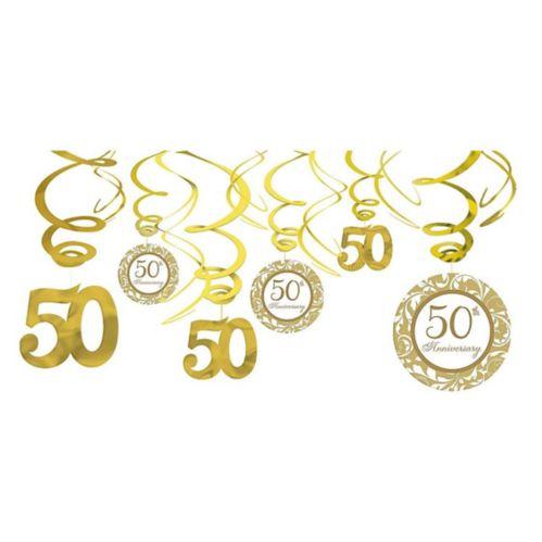 Décorations en spirale 50eanniversaire, paq. 12