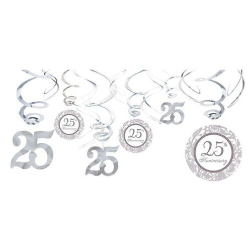Décorations en spirale 25eanniversaire, paq. 12 Image de l'article