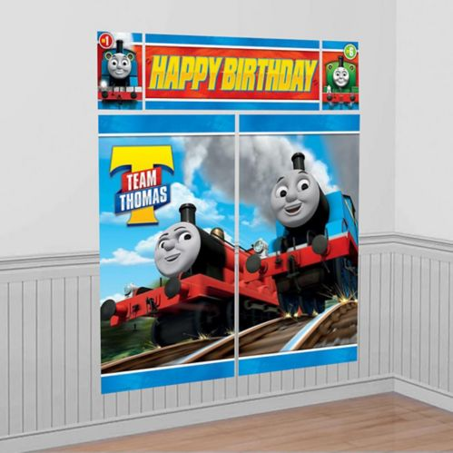Décor mural Thomas le petit train, 5pièces