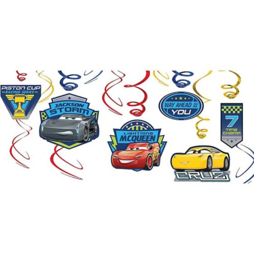 Cars 3 Swirl Decorations, 12-c