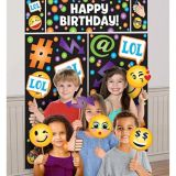 Smiley Photo Booth Kit, 17-pc