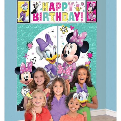 Minnie Mouse Scene Setter with Photo Booth Props