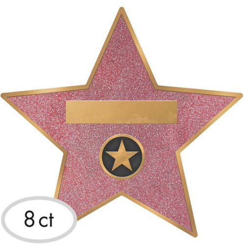 Hollywood Star Decals, 8-pk