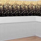 Gold Cascading Lights Room Roll | Amscannull