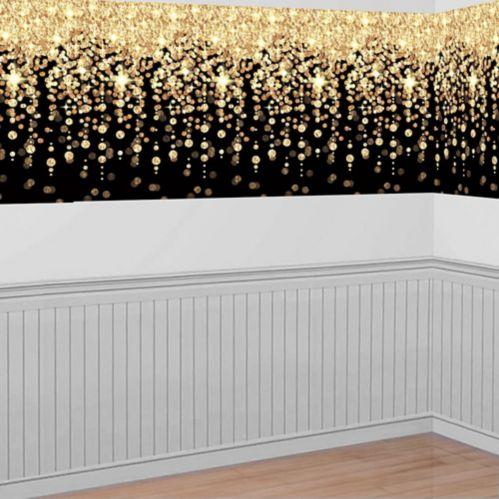 Gold Cascading Lights Room Roll