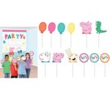 Peppa Pig Scene Setter with Photo Booth Props | Amscannull
