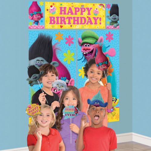 Trolls Scene Setter with Photo Booth Props
