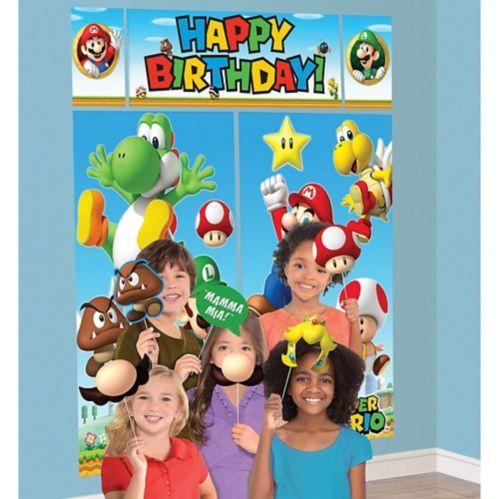 Décor mural Super Mario avec accessoires pour cabine de photo, paq. 13 Image de l'article