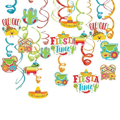 Fiesta Time Swirl Decorations, 30-pc