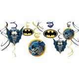 Décorations en spirale Batman, paq. 12
