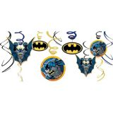 Batman Swirl Decorations, 12-pc
