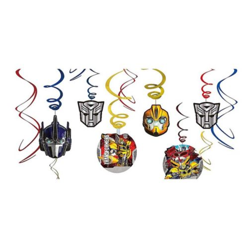 Transformers Swirl Decorations, 12-pc
