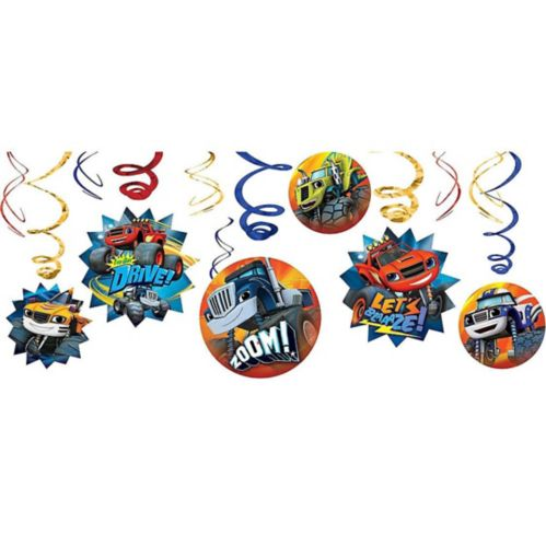 Blaze and the Monster Machines Swirl Decorations, 12-pc