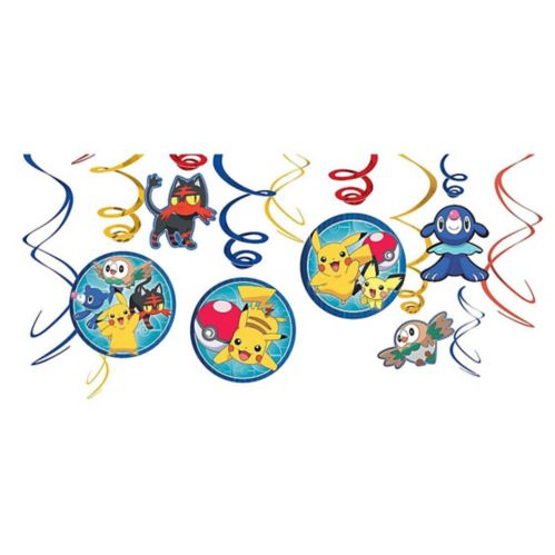 Pokémon Core Swirl Decorations, 12-pc