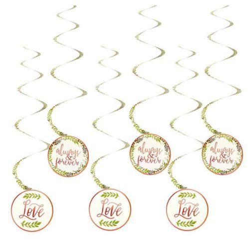 Floral Greenery Wedding Swirl Decorations, 12-pk