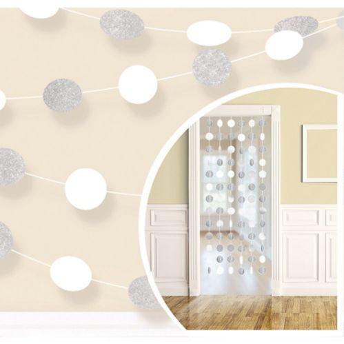 Polka Dot String Decorations, 6-pk