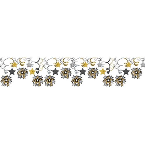 Hollywood Stars Swirl Decorations, 30-pc