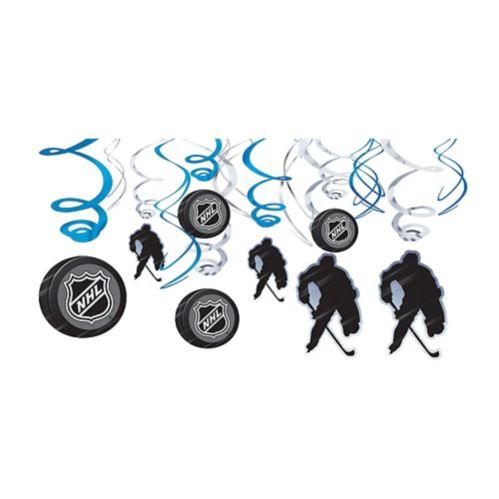 NHL Swirl Decorations, 12-pc