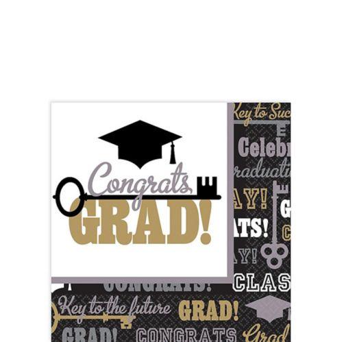 Key to Success Graduation Beverage Napkins, 125-pk Product image