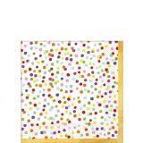Serviettes à boissons Confettis arc-en-ciel, paq. 36