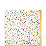 Rainbow Confetti Lunch Napkins, 36-pk
