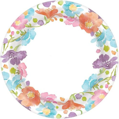 Spring Has Sprung Floral Dinner Plates, 40-pk