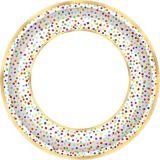Assiettes à dîner Confettis arc-en-ciel, paq. 18 | Amscannull