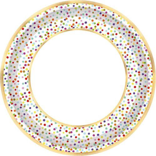 Rainbow Confetti Dinner Plates, 18-pk