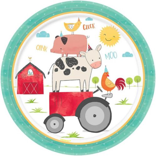 Friendly Farm Dinner Plates, 18-pk