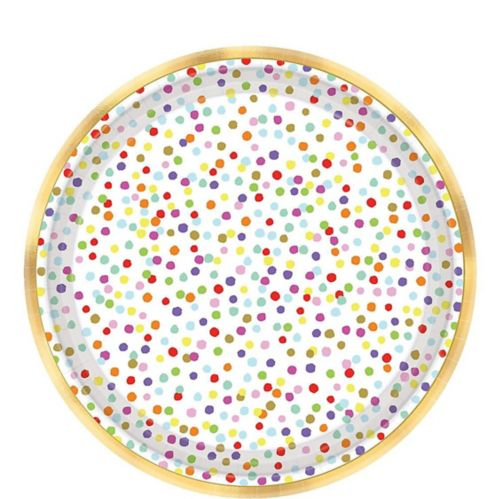 Rainbow Confetti Dessert Plates, 18-pk Product image