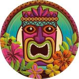 Tropical Tiki Lunch Plates, 60-pk