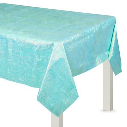Opalescent Table Cover, Robin's Egg Blue Product image