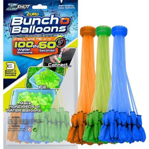 Ballons d'eau Bunch-O-Water bleus, verts et orange, paq.105 Image de l'article