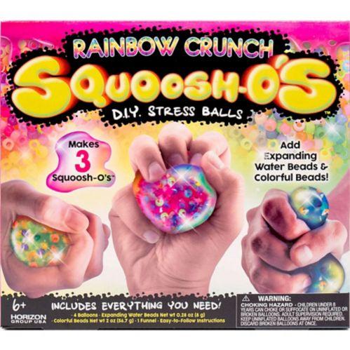 Rainbow Crunch Squoosh-o's DIY Stress Balls Craft Kit, 7-pc