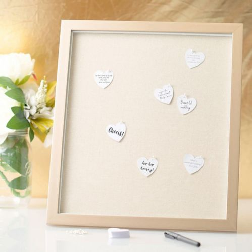 Wedding Guest Book Frame with Hearts, 202-pc