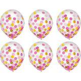 Gold & Pink Confetti Balloons, 6-pk | Amscannull