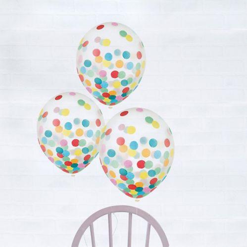 Multicolour Confetti Balloons, 6-pk