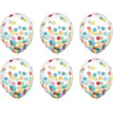 Multicolour Confetti Balloons, 6-pk   Amscannull