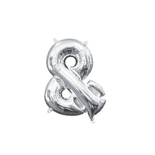Ballon d'esperluette rempli d'air, argent