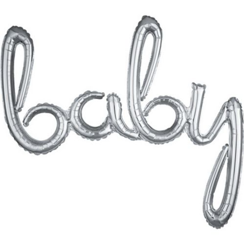 Air-Filled Baby Cursive Letter Balloon Banner, 39-in Product image