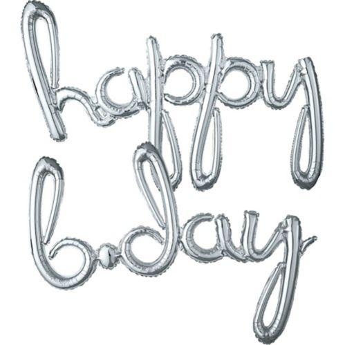 Banderole de ballons de lettres gonflables à l'air, Happy B-Day Image de l'article
