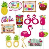 Glitter Tropical Photo Booth Props, 13-pk | Amscannull