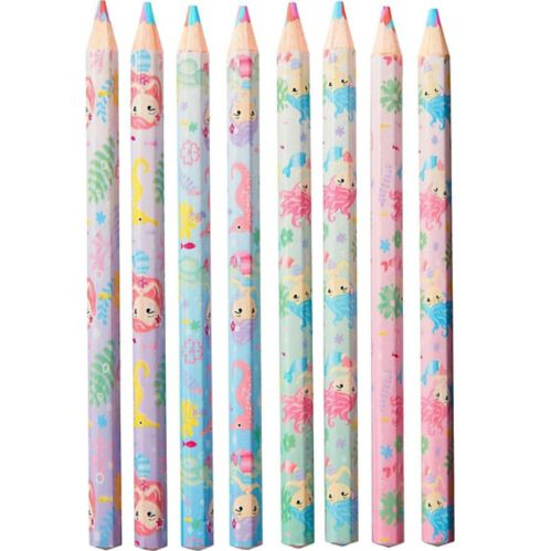 Mermaid Multicolour Pencils, 8-pk