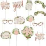 Floral Greenery Photo Booth Props, 13-pk